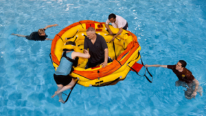 Sea-Survival-training-boarding-liferaft